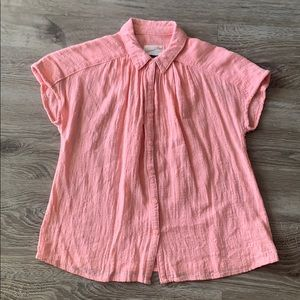 Pink Button Down Top